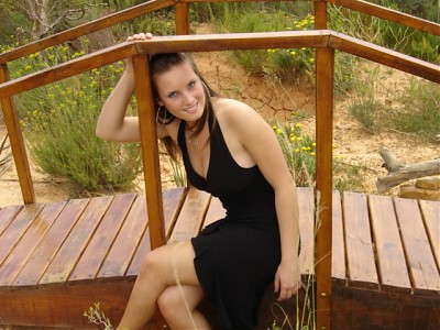 promotional model: Gisele R in Cape Town