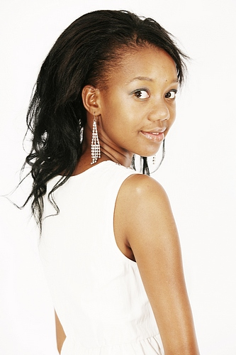 promotional model: Sandiso S in Johannesburg