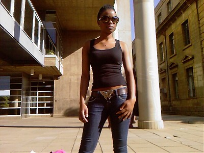 promotional model: Thandeka Z in Johannesburg