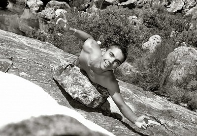 promotional model: Anton J in Cape Town