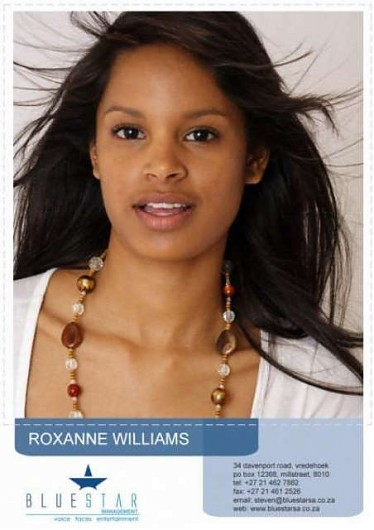 promotional model: Roxanne V in Cape Town