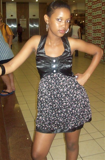 promotional model: Murendeni M in Cape Town