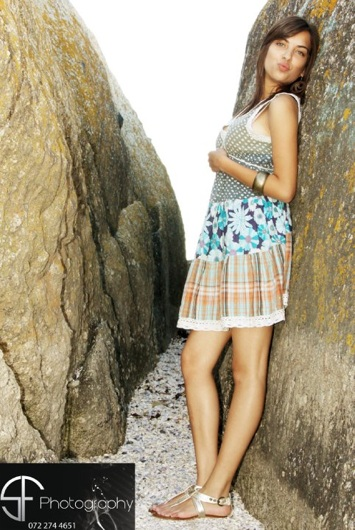 promotional model: Aaishah D in Cape Town
