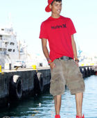 promotional model: Achmad D in Cape Town