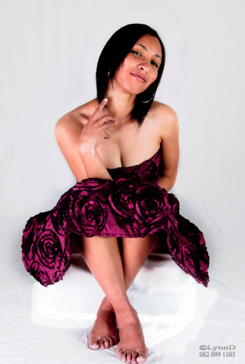 promotional model: Charné C in Cape Town