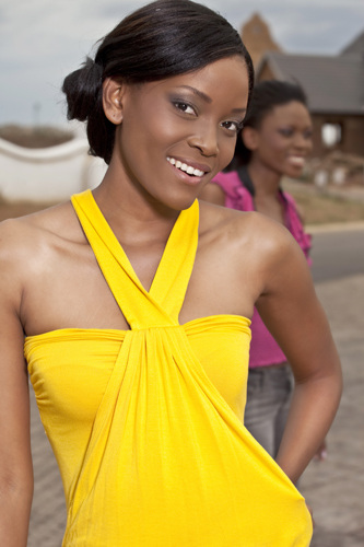 promotional model: Zandile M in Pretoria