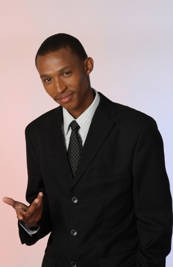 promotional model: Gontse P in Cape Town