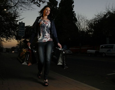 promotional model: Kimberley V in Johannesburg