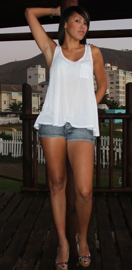 promotional model: Bilqees W in Cape Town