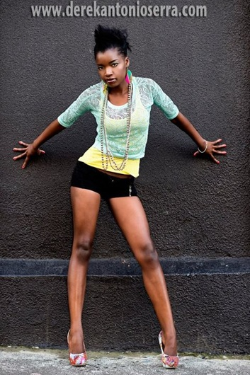 promotional model: Thembi Z in Cape Town