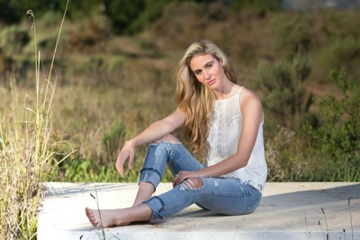 promotional model: Tania B in Cape Town