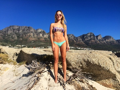 promotional model: Isabella D in Cape Town