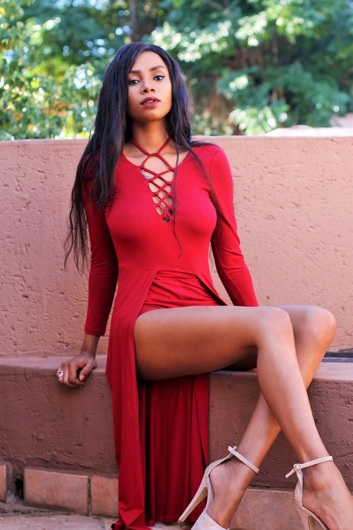 promotional model: Lihle G in East London