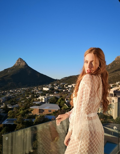 promotional model: Catherine G in Cape Town