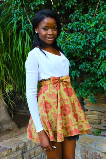 promotional model: Maila K in Cape Town
