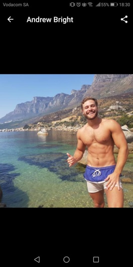 promotional model: Andrew B in Cape Town
