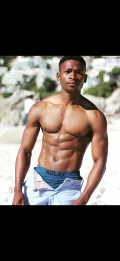 promotional model: Xolani M in Cape Town