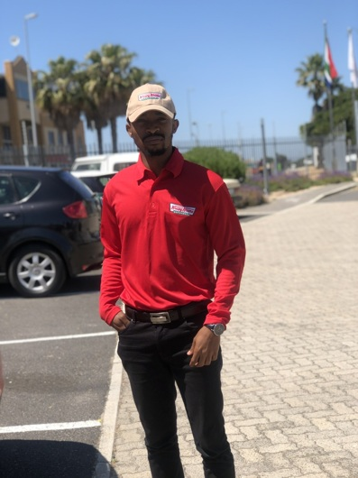 promotional model: Phenyo R in Cape Town