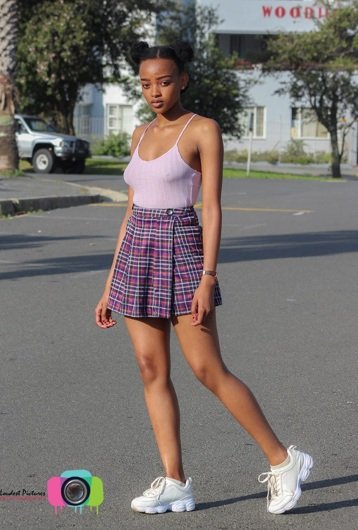 promotional model: Aphiwe M in East London