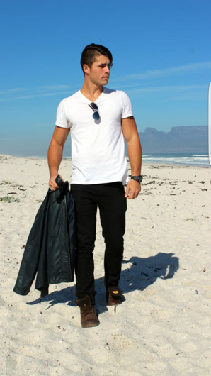 promotional model: Francois M in Cape Town