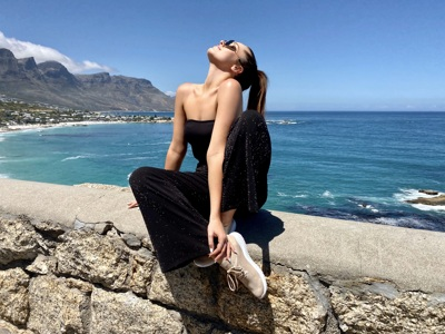 promotional model: Nicole M in Cape Town