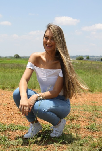 promotional model: Tayla V in Johannesburg