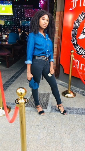 promotional model: Unathi N in Cape Town