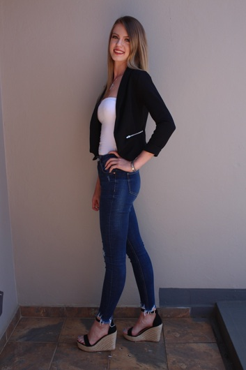 promotional model: Caillie S in Johannesburg