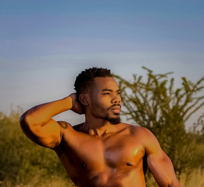 promotional model: Matome R in Polokwane