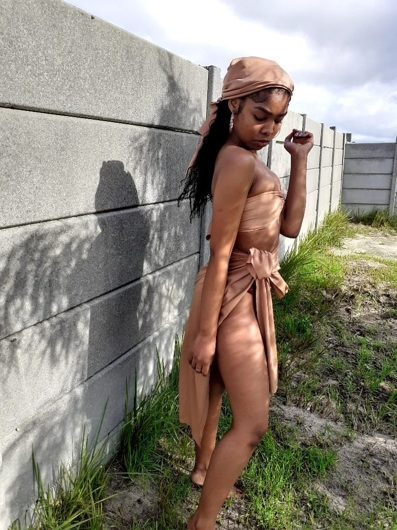 promotional model: Jamy-Leigh D in Cape Town