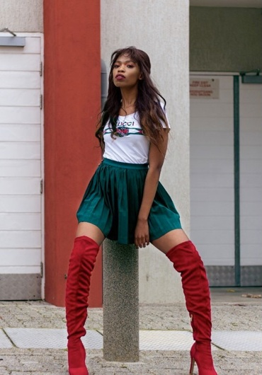 promotional model: Athini T in Cape Town