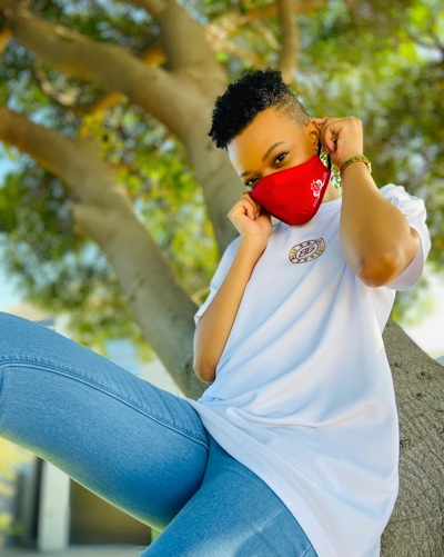 promotional model: Nonele M in Cape Town