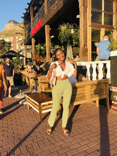 promotional model: Esethu K in Cape Town