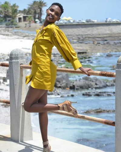promotional model: Sinovuyo G in Cape Town