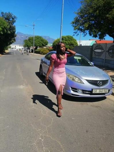 promotional model: Blessing C in Cape Town