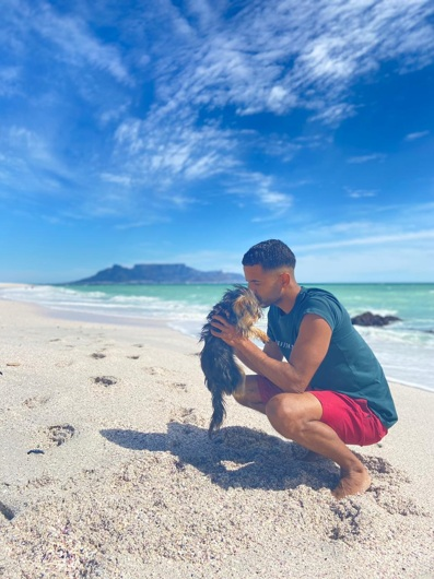 promotional model: Tristan B in Cape Town