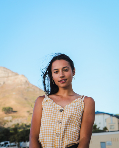 promotional model: Catherine S in Cape Town