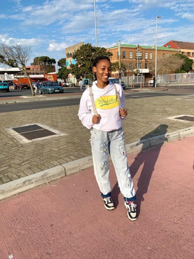 promotional model: Okuhle L in Cape Town
