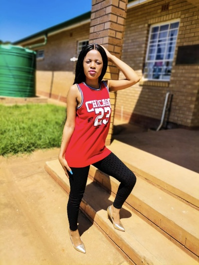 promotional model: Awethu D in East London